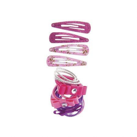 Kit fermagli ed elastici rosa e fucsia - Great Pretenders