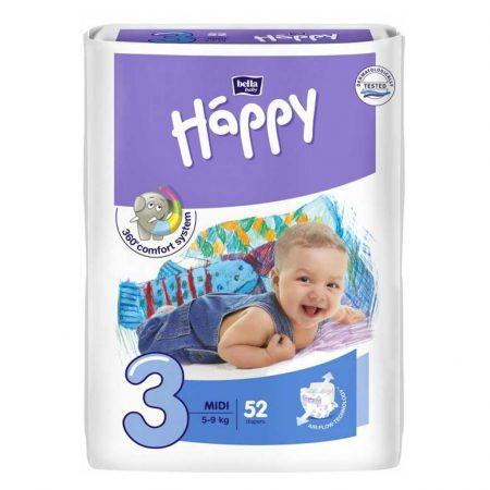 Pannolini taglia 3 pacco da 52 pezzi - Happy