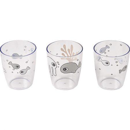 Set 3 bicchieri Yummy Sea Friends - Blu - Done by deer