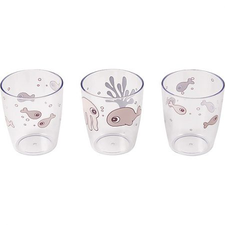 Set 3 bicchieri Yummy Sea Friends - Cipria - Done by deer