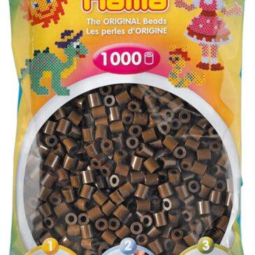 1000 Perline da stirare marrone scuro - Hama