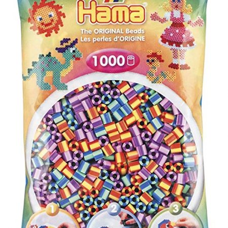 1000 Perline mix viola-arancio-verde - Hama