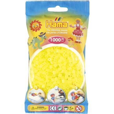 1000 Perline da stirare giallo fluo - Hama