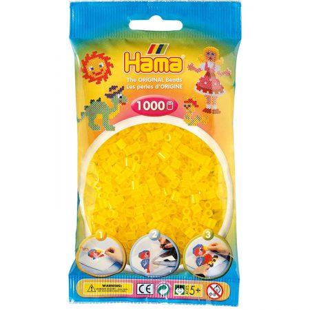 1000 Perline da stirare giallo scuro fluo - Hama