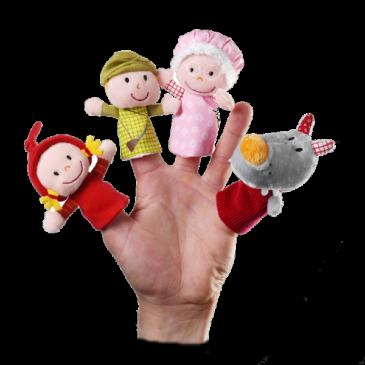 Marionette a dita cappuccetto rosso - Lilliputiens
