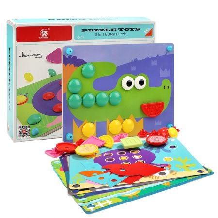 Puzzle toys 8 in 1 bottoni - Top bright