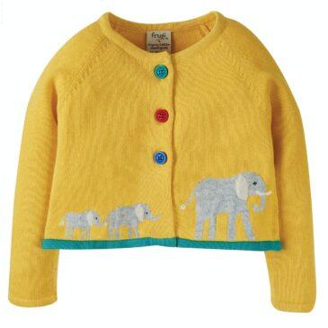 Cardigan elefanti 3/6 mesi - Frugi