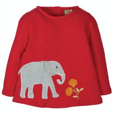 Maglia in cotone elefanti 6/12 mesi - Frugi