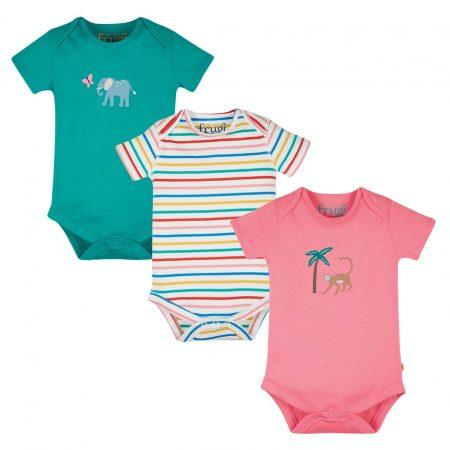 kit 3 body animals 0/3 mesi - Frugi