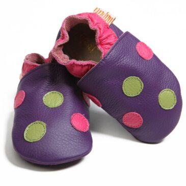 Babbucce taglia 18/19 M Polka Dots Purple - Liliputi