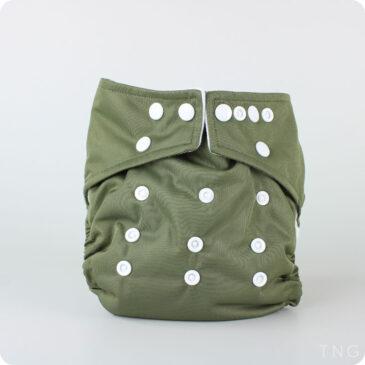 Pannolino Lavabile Pocket Verde militare Taglia Unica - Little Lamb