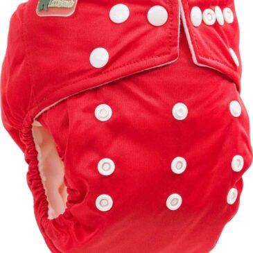 Pannolino Lavabile Pocket Rosso Taglia Unica - Little Lamb