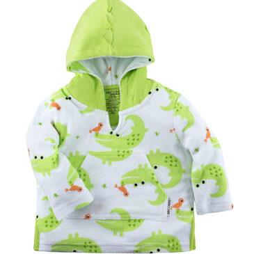 Accappatoio Baby Cover Up UPF 50+ coccodrilli 12/24 mesi - Zoocchini