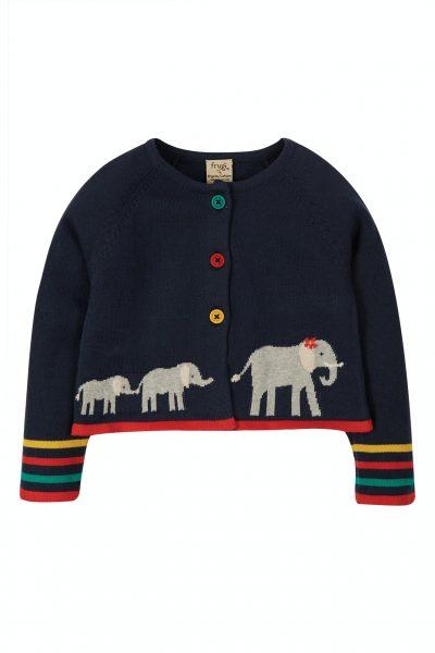 Cardigan elefanti blu 18/24 mesi - Frugi