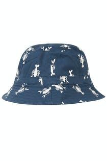 Cappellino con protezione UV reversibile aragosta 4/6 anni - Villervalla