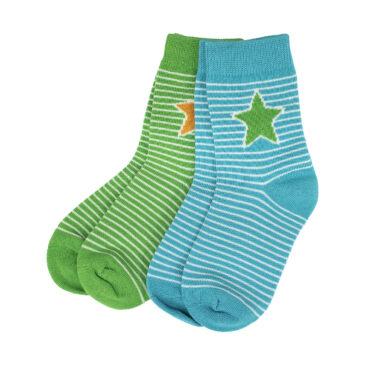 kit 2 calzini richine verde-azzurro taglia 19/21 - Villervalla
