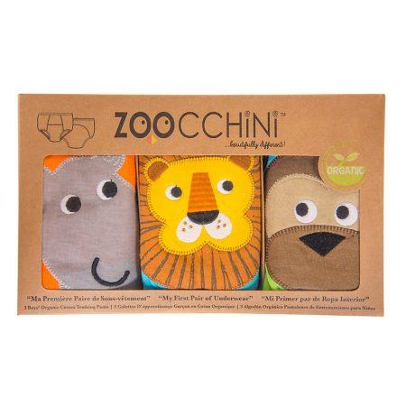 3 Mutandine Trainer in cotone organico -Safari- 2/3 anni - Zoocchini