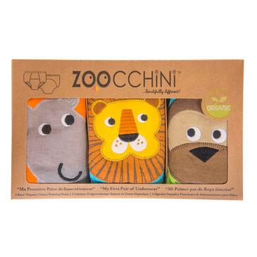 3 Mutandine Trainer in cotone organico -Safari- 3/4 anni - Zoocchini