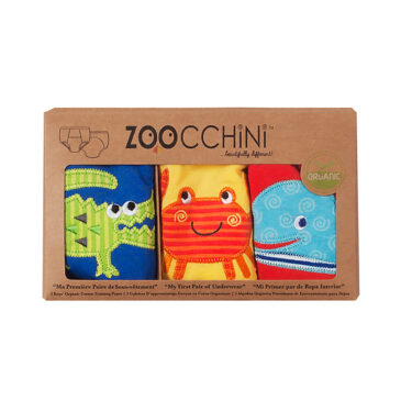 3 Mutandine Trainer in cotone organico tema marino 2/3 anni - Zoocchini