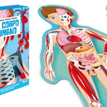Il corpo umano libro e puzzle 72x32 cm. - Sassi