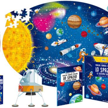 Lo spazio e il Sistema Solare libro e puzzle - Sassi