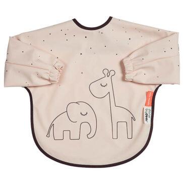 Bavaglino con Maniche Dreamy Dots rosa (6/18 mesi) - Done by deer