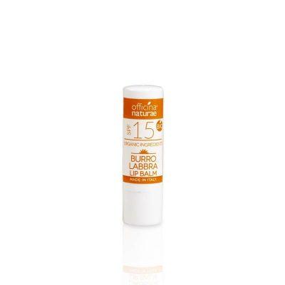 Burro Labbra Solare SPF 15 a protezione media certificata - Officina Naturae