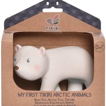 3-in-1 Sonaglio Orso polare, Massaggiagengive, Gioco da Bagno - Tikiri