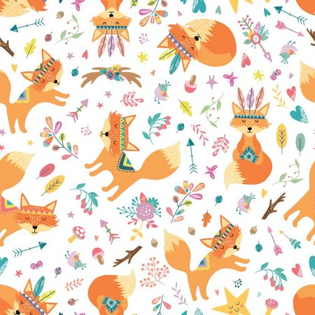 Cover 2in1 One Size con Velcro Foxes - Blümchen Stoffwindeln