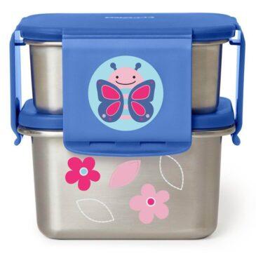Set porta pappa acciaio farfalla - Skip Hop