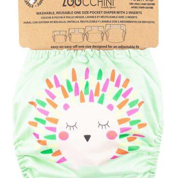 Pannolino Lavabile - Riccio - 2 Inserti Assorbenti Inclusi - 3-16 kg one size - Zoocchini