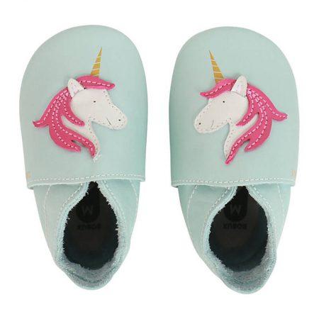 Babbucce taglia 22-23 XL unicorno celeste - Bobux
