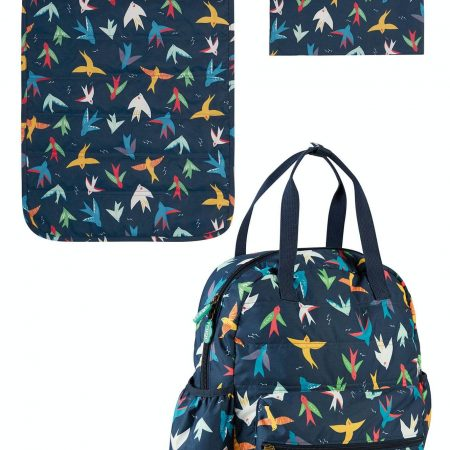 Borsa maternità Rainbow birds con fasciatoio e ganci - Frugi