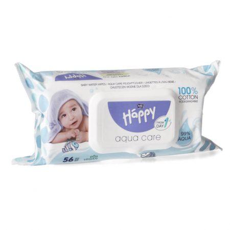 Salviette Aqua Care 56 pz - Bella Happy