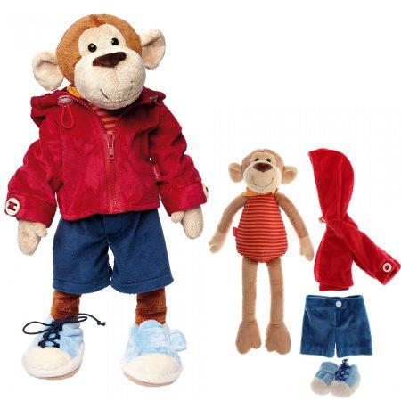 Bambola scimmietta con differenti allacciature - Sigikid