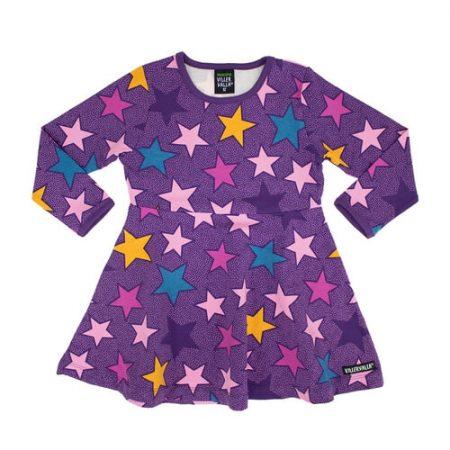 Vestito stelle viola taglia 104 - Villervalla