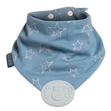 Bavaglino stelle cielo con strumento da dentizione - Cheeky Chompers