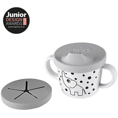 Tazza Spout 2in1 Bevi o Mangia Elphee, grigio - 230 ml - Done by deer