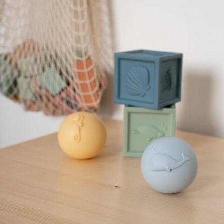 Cubi e palline in silicone - Little dutch