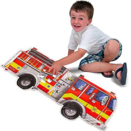 Puzzle Gigante da Pavimento - Camion dei Pompieri - 24 pezzi - Melissa and doug