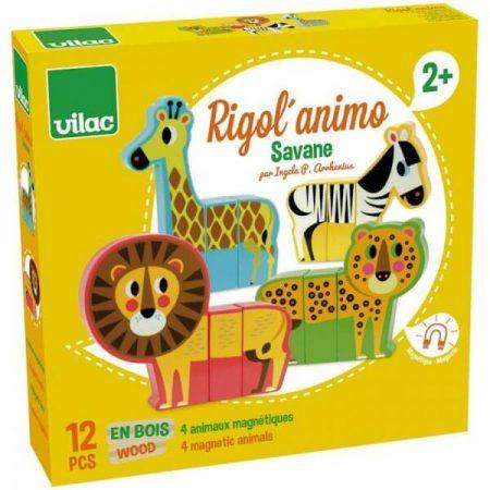 Animali della savana magnetici - Vilac