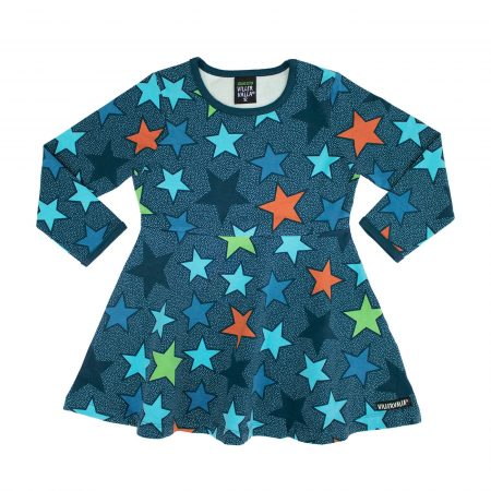 Vestito stelle blu taglia 110 - Villervalla